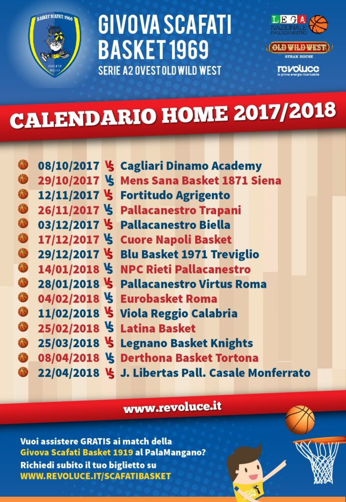 Serie A2 Basket Calendario.Calendario Scafati Basket 2017 18 Revoluce
