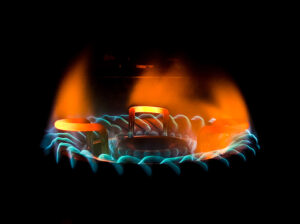 fiammella del gas