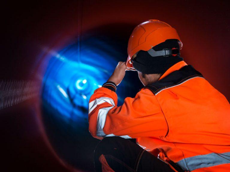Ispezione delle condotte di trasporto gas